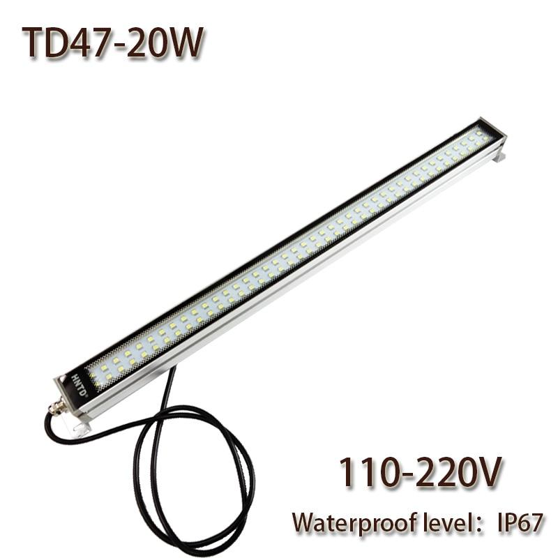 HNTD 20W AC110V/220V LED Metal work light CNC machine work tool lighting TD47 Waterproof IP67 Led Panel Light