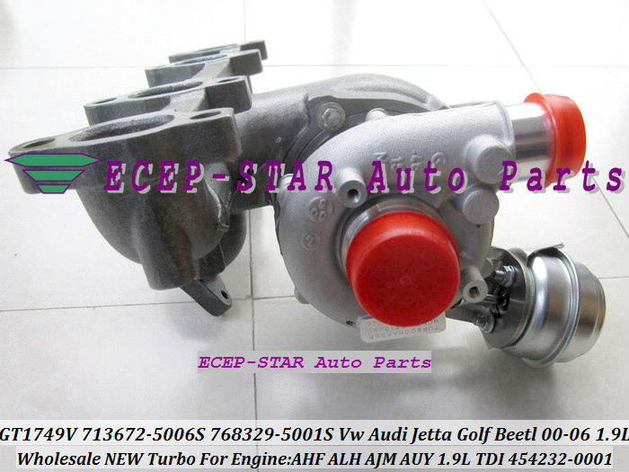 GT1749V 713672-5006S 768329-5001S 454232-0001 713672 713672-5005S 768329 Turbo For AUDI VW Jetta Golf Beetl AHF ALH AUY 1.9LTDI