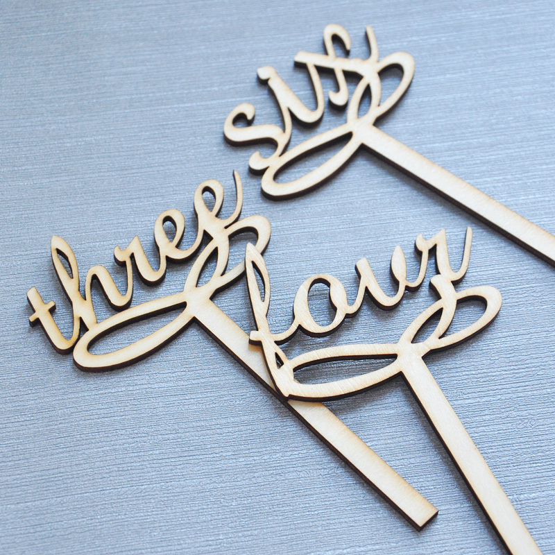 Buy wedding table number wooden table for Table numbers