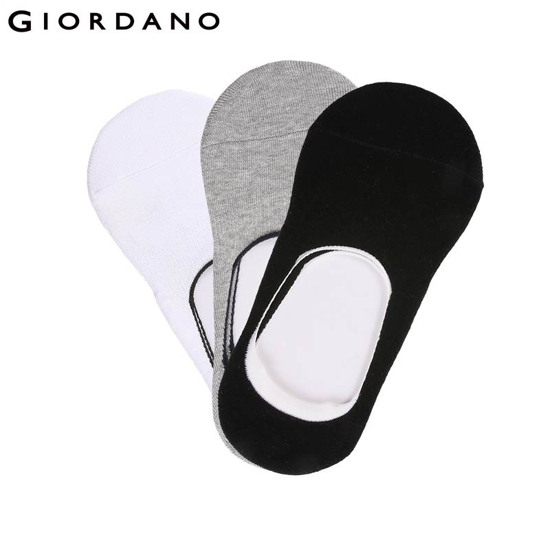 Giordano Men Invisible Socks Soft Cotton Mans Sokken Soft Cotton Cool Casual 3-Pack Socks Breathable Summer Sox Meias