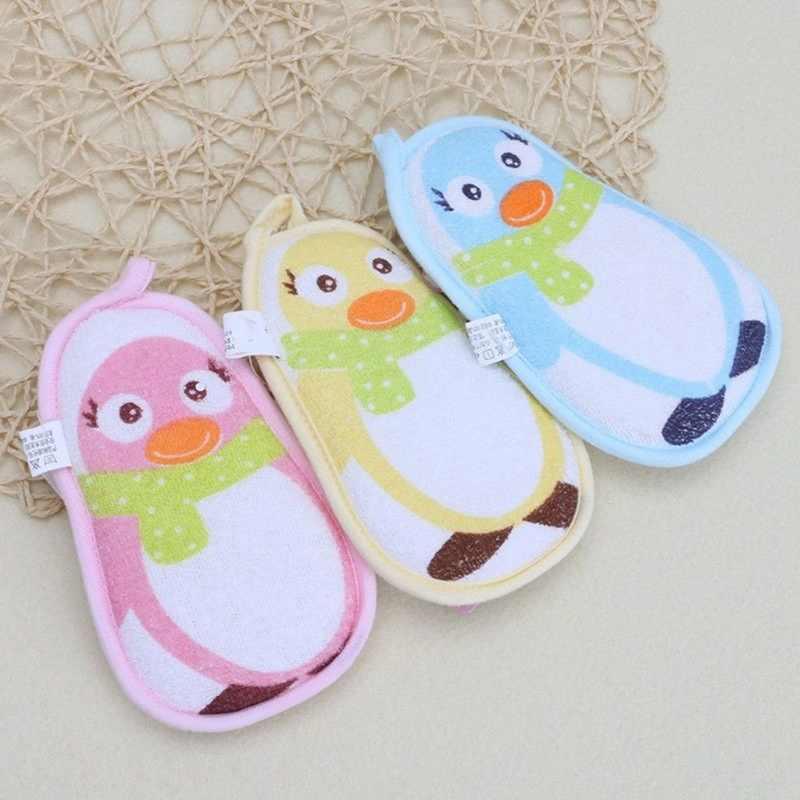 Детские аксессуары для полотенец маленький пингвин младенческий смеситель для душа для ванной щетки Губка хлопок потертый мытье тела Детские щетки для ванной