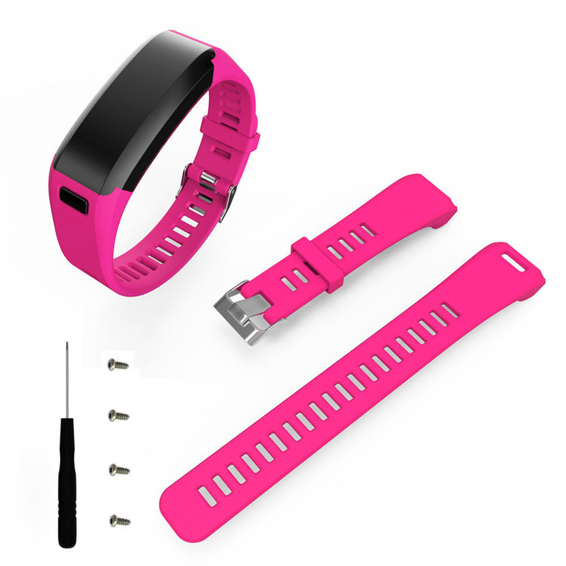 все цены на Replacement Wristband Fashion Sports Silicone Band Strap Bracelet + Tool For Garmin Vivosmart HR   Ma28 онлайн