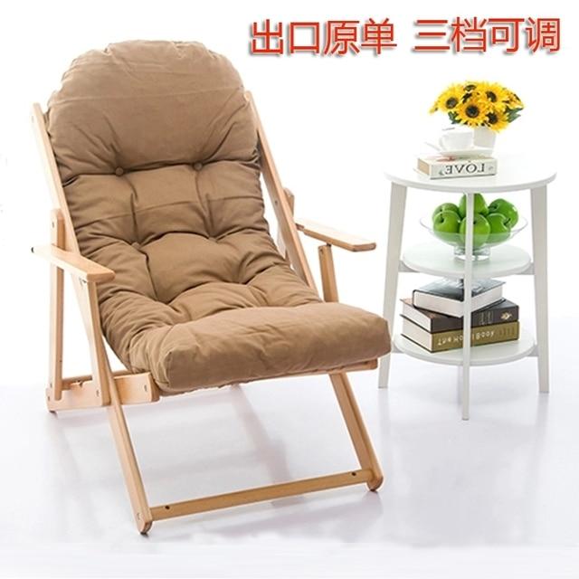 Madera mecedora reclinable silla plegable silla puf IKEA feliz ...