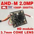 3000TVL 1920*1080 p AHD câmera de 2.0 MegaPixel HD MINI CCTV Módulo de Câmera de 3.7mm Placa de Circuito CMOS V30E + GC2023 cone pontiagudo LENTE desconto