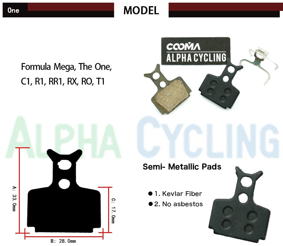 Formula ORO Mega The one R1 RX Semi Metal Resin Disc Brake Pads  1 Pair
