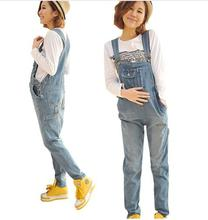 2016 Spring Autumn Maternity Clothes Blue Denim Overalls Casual Pants For Pregnant Women Pregnancy Jeans Pant Suspender Trousers