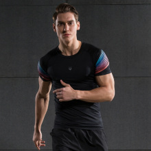 Men's Running Tees Compression Short Sleeve Shirt Fitness Skinny Tops Man Quick Dry Jogging T-shirts Workout Sports Shirts