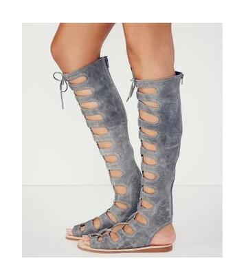 Pictures gris Niñas as Lace Mujer up Pictures Pictures Planos Zapatos Slingback Gladiador as Botas outs Sexy Negro Toe Sandalias Peep Sestito Cut Rodilla Altas Señoras as wZxRggqp