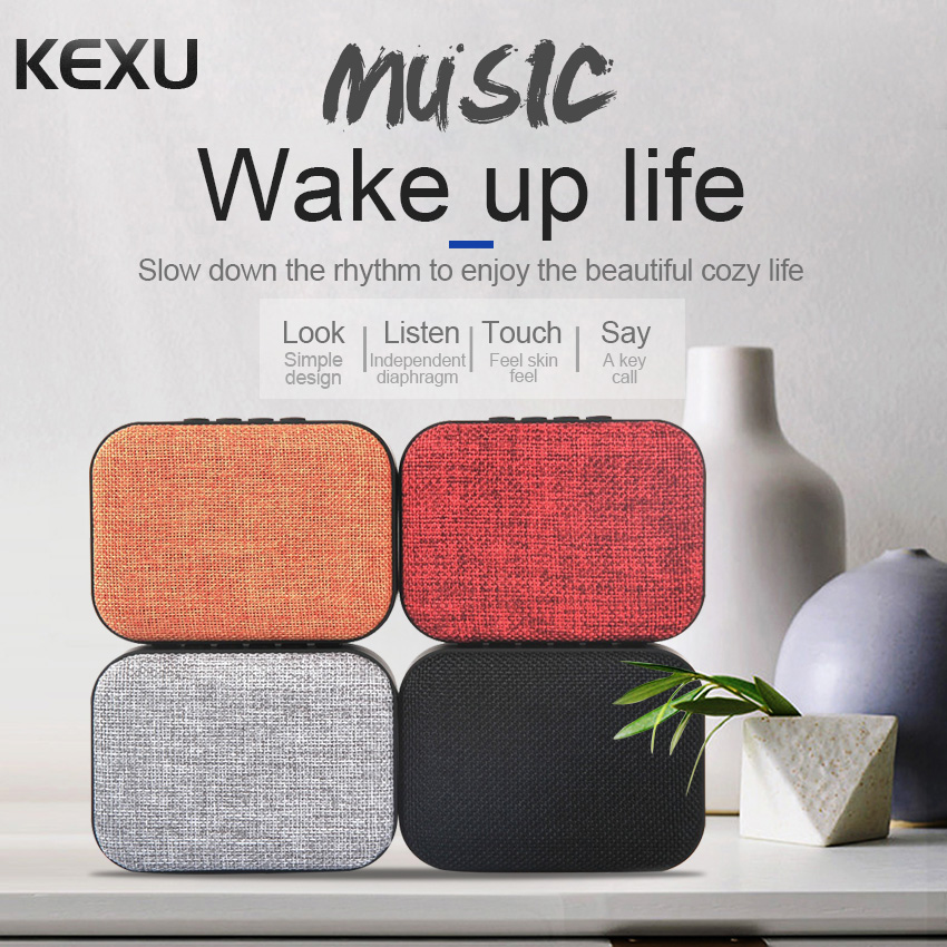 KEXU Mini Portable Cloth Style Bluetooth Speaker TF Outdoor Wireless Speakers For iPhone Samsung Mobile Phone Bluetooth speaker