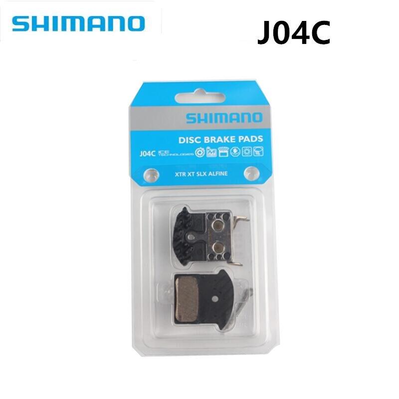 Shimano j04c j02a g02a 냉각 핀 브레이크 m9000/m9020/m987/m985/m8000/m785/m7000/m675/m6000과 호환되는 금속 브레이크 패드
