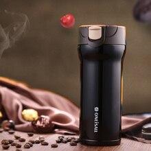 ONE 350ml Thermos Mug Coffee Milk Tea Cup 304 Stainless Steel Mug Vacuum flask Anti-Dust Coffee Cups Seal Tea Thermol Bottle
