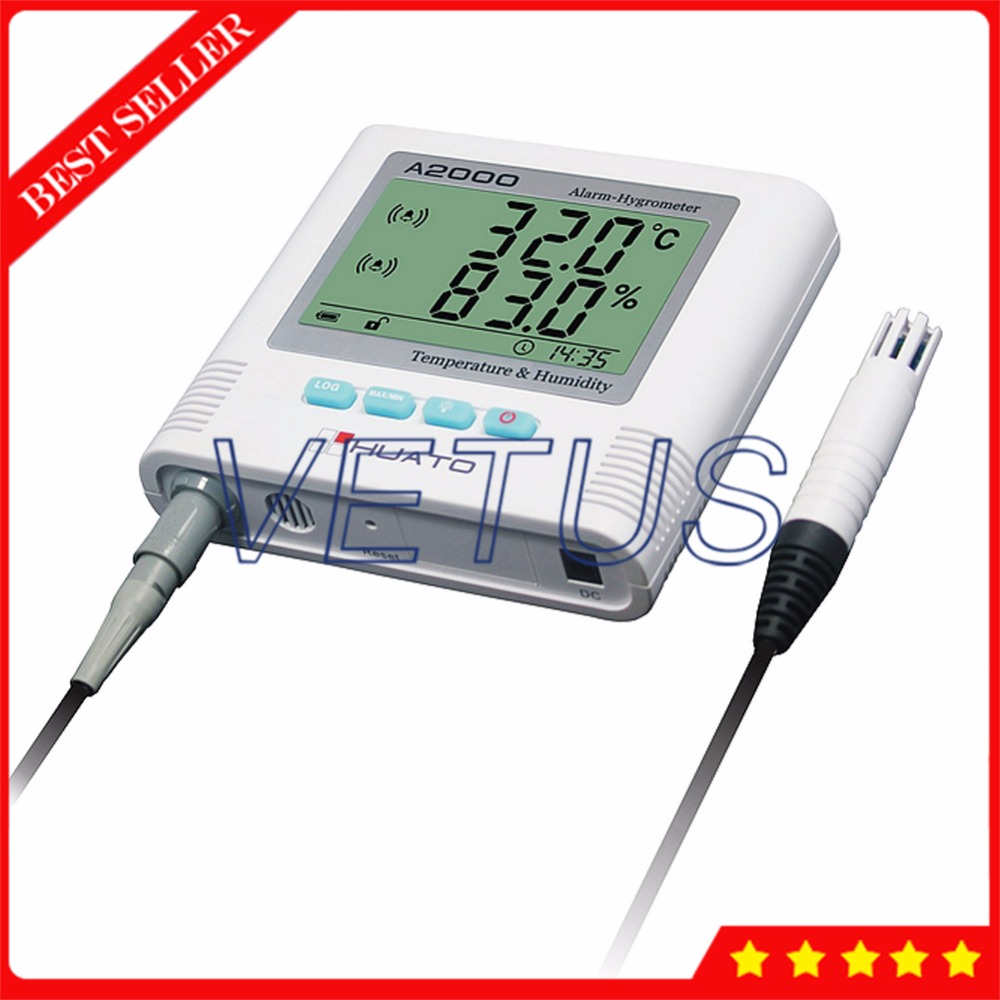 все цены на 3 Meters Cable External Sensor Digital Thermo Hygrometer A2000-ES with Sound light alarm function temperature humidity meter