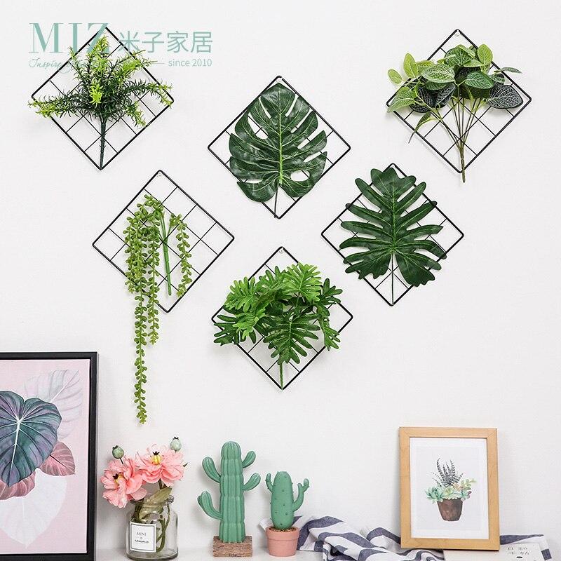 Artificial Plant Green Art Handmade Leaf Flowers Office Home Decor Floristry New
