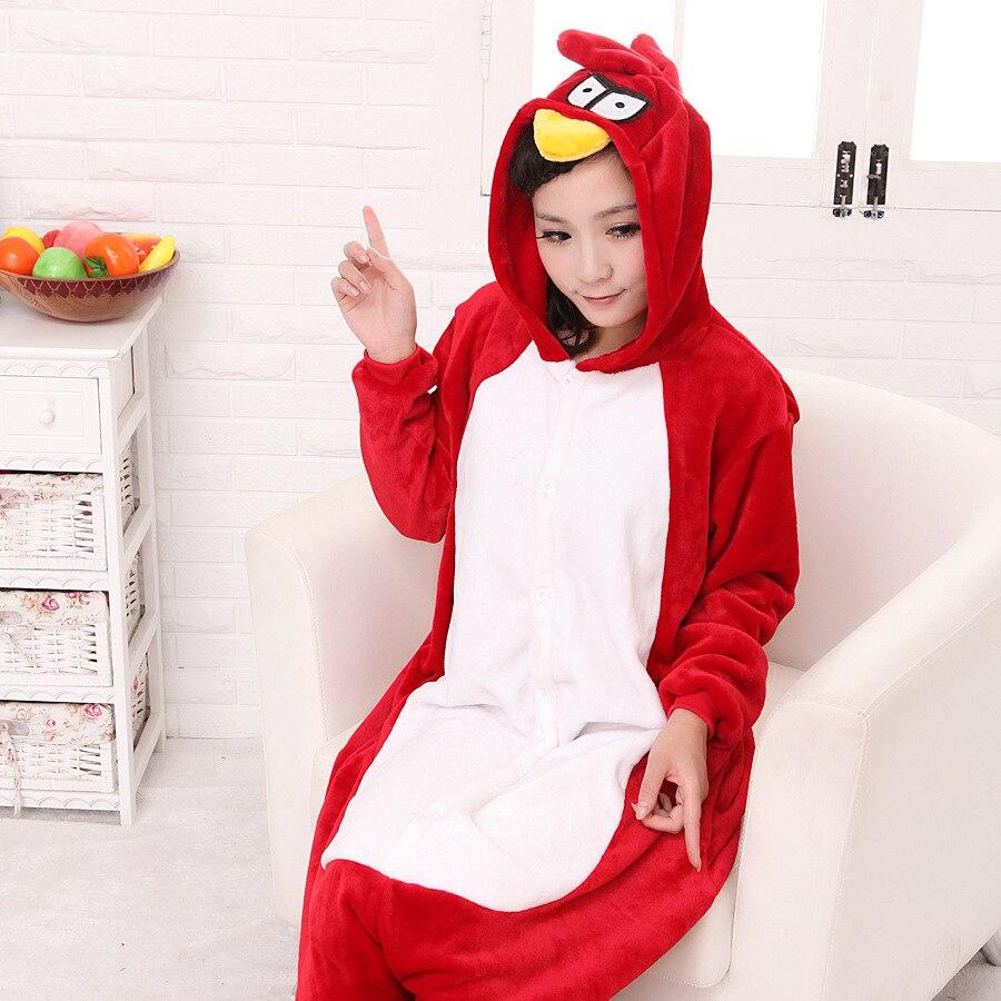 68ad944229 Animal de dibujos animados conjoined adulto Pájaro Rojo animal pijamas  Cosplay party pijama franela con capucha onesies pijama establece ropa de  dormir