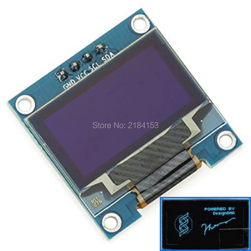 Free Shipping 10PCS/Lot 4pin Yellow, blue double color 128X64 0.96 inch OLED LCD LED Display Module 0.96 IIC SPI Communicate