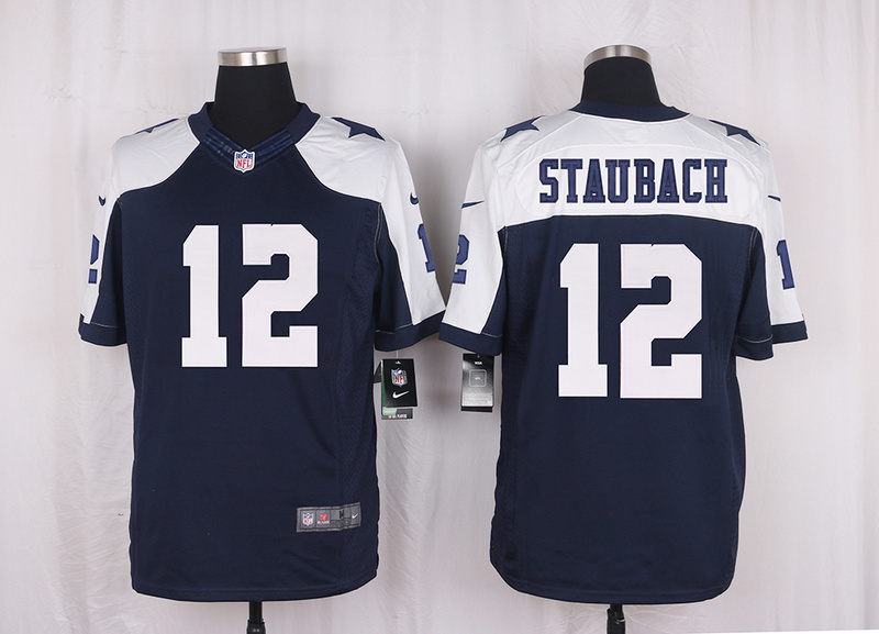66e26dbd7 ... Mens free shiping A+++ quality Dallas Cowboys 12 Roger Staubach Limited Navy  Blue Throwback Alternate, ...
