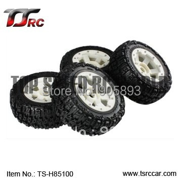Nylon Wheel - 5T Knobby Front & Rear tyres 4pcs(TS-H85100),wholesale and retail+Free shipping! 180 16 9 fast fold front and rear projection screen back