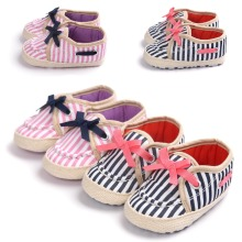 0~18month striped canvas newborn infantil baby boys girls shoes for baby first walkers slip-on bebe shoes