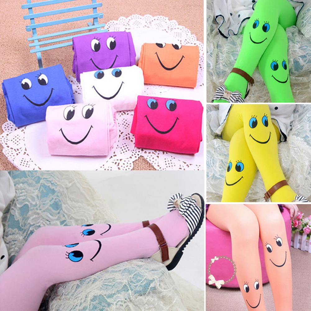 New Free Drop Shipping  Popular New Winter Baby Girls Cute Smile Tights Dancing Pantyhose Child Christmas Stockings