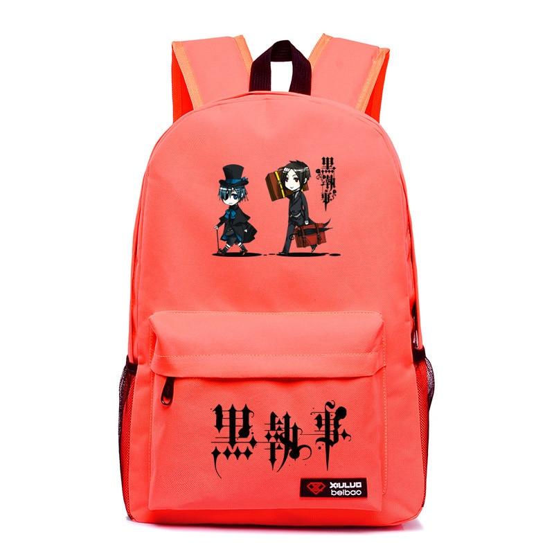 2017 Harajuku Japanese Anime Black Butler Canvas Galaxy Printing Backpack School Bags for Teenagers Children Backpacks Mochila цена 2016