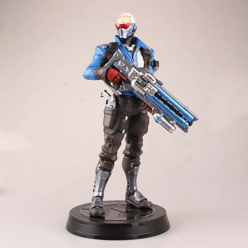 Free Shipping 12 OW Game Soldier 76 the 2nd Ver. Boxed 31cm PVC Action Figure Collection Model Doll Toy Gift free shipping 14 hot game hero caitlyn the sheriff of piltover boxed 35cm pvc action figure collection model doll toy gift