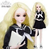 22 BJD полный набор + макияж ручной работы EVA BJD школьная девушка 1/3 шарнирная Кукла SD кукла в сборе куклы + аксессуары пирожное кукла Игрушечная