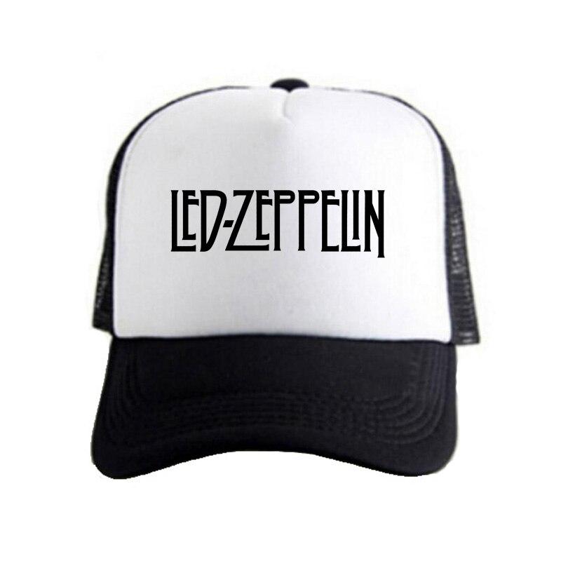 3a98b80caed Pkorli Men Women Led Zeppelin Cap British Rock Band Hip Hop Baseball Caps  Men Women Summer Mesh Net Trucker Caps Hat Casquette-in Baseball Caps from  Apparel ...