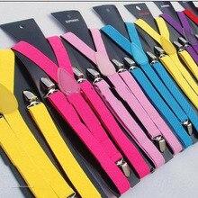 Обтягивающие подтяжки для мужчин и женщин неоновая простая регулировка красочные клип на Y-back 105 шт