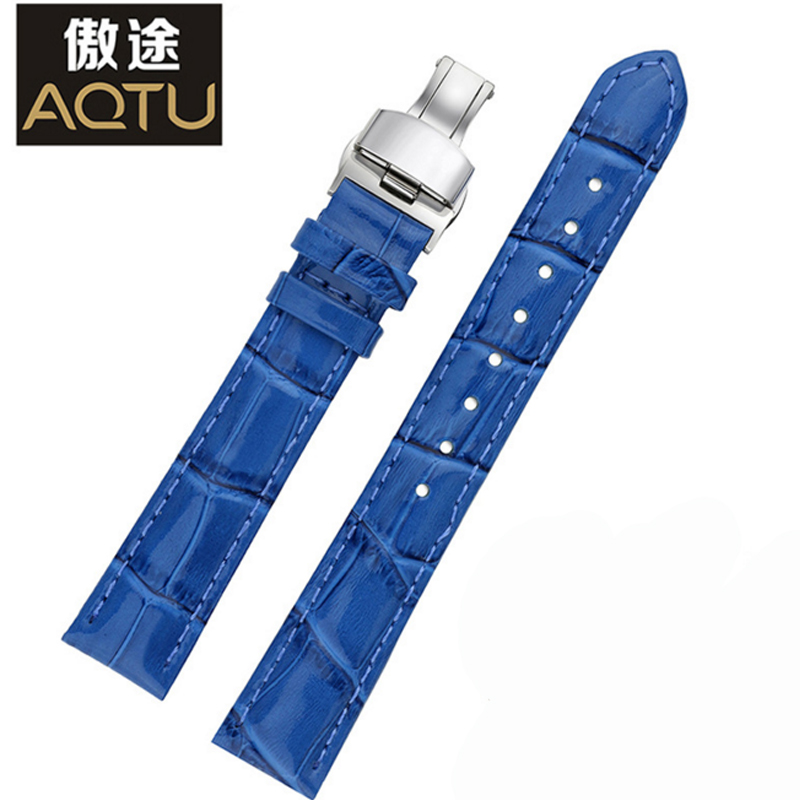 Ladies Genuine Leather Watchbands For Tissot 1853 T055/PRC200 T099/T063 16MM Women Leather Watch Strap 4 Colors Femme Belt tissot t063 639 16 057 00