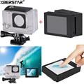 Novo 2 polegada da tela de toque lcd + touchable waterproof case para câmera gopro hero 3 + 4