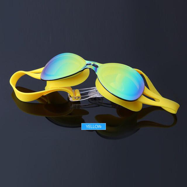 Professional Men Women mirror lens Electroplate Anti Fog Swimming Goggles Waterproof Swim Glasses M3067A