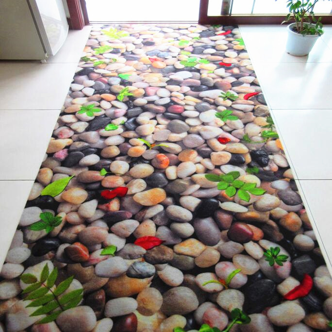 SunnyRain 3D Carpet Cobblestone Rugs And Carpets For Home Living Room Area Rug Skidproof Kitchen