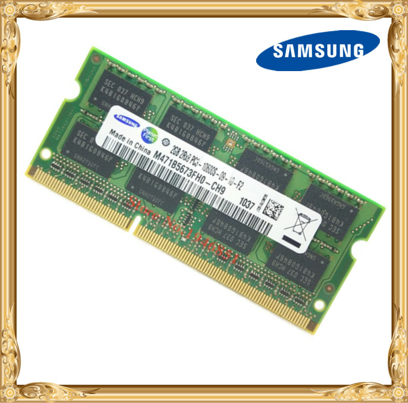 Samsung Laptop Memory DDR3 2GB 1333MHz PC3-10600 Notebook RAM 10600S 2G