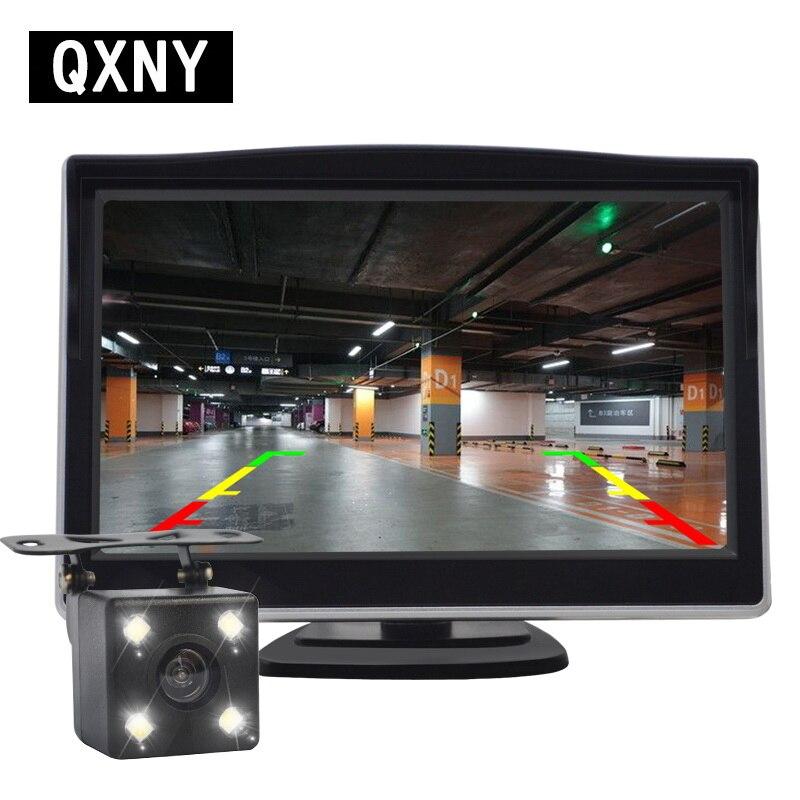 Samochód wideo HD Monitor automatycznego parkowania, widzenie nocne LED cofania CCD tylna kamera samochodowa z lusterko wsteczne samochodowe 4.3 cala Monitor lustrzany