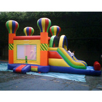 Площадка дети слайд надувные bounder замок с горкой
