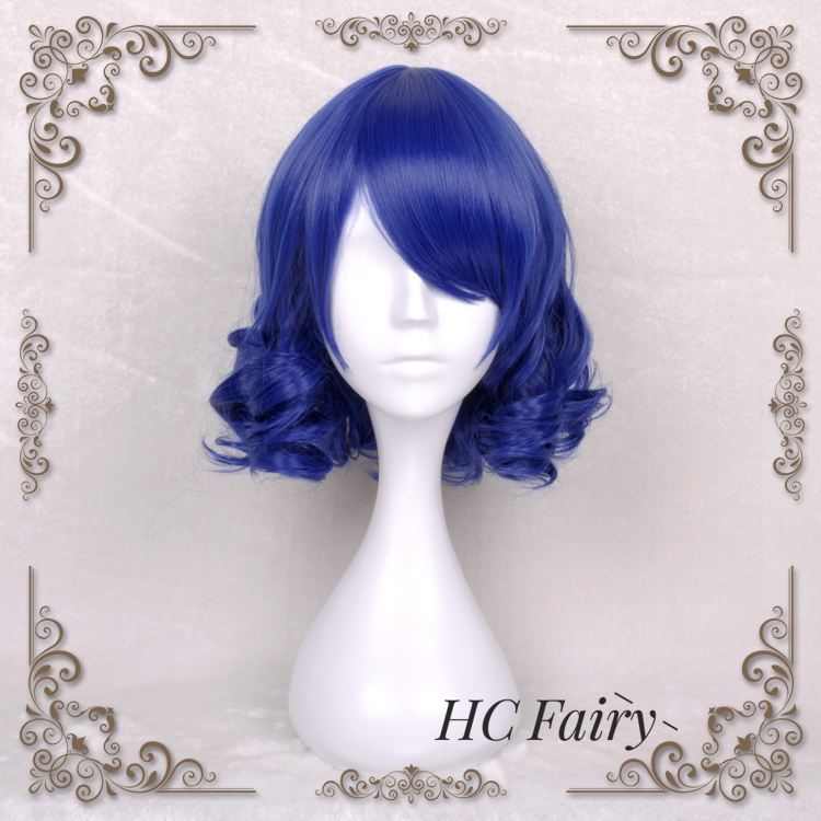 US $20.93 9% OFF|Anime SHOW BY ROCK !! Cosplay Wig Plasmagica Cyan  Hijirikawa Blue Curly Synthetic Hair for Adult-in Game Costumes from  Novelty & ...