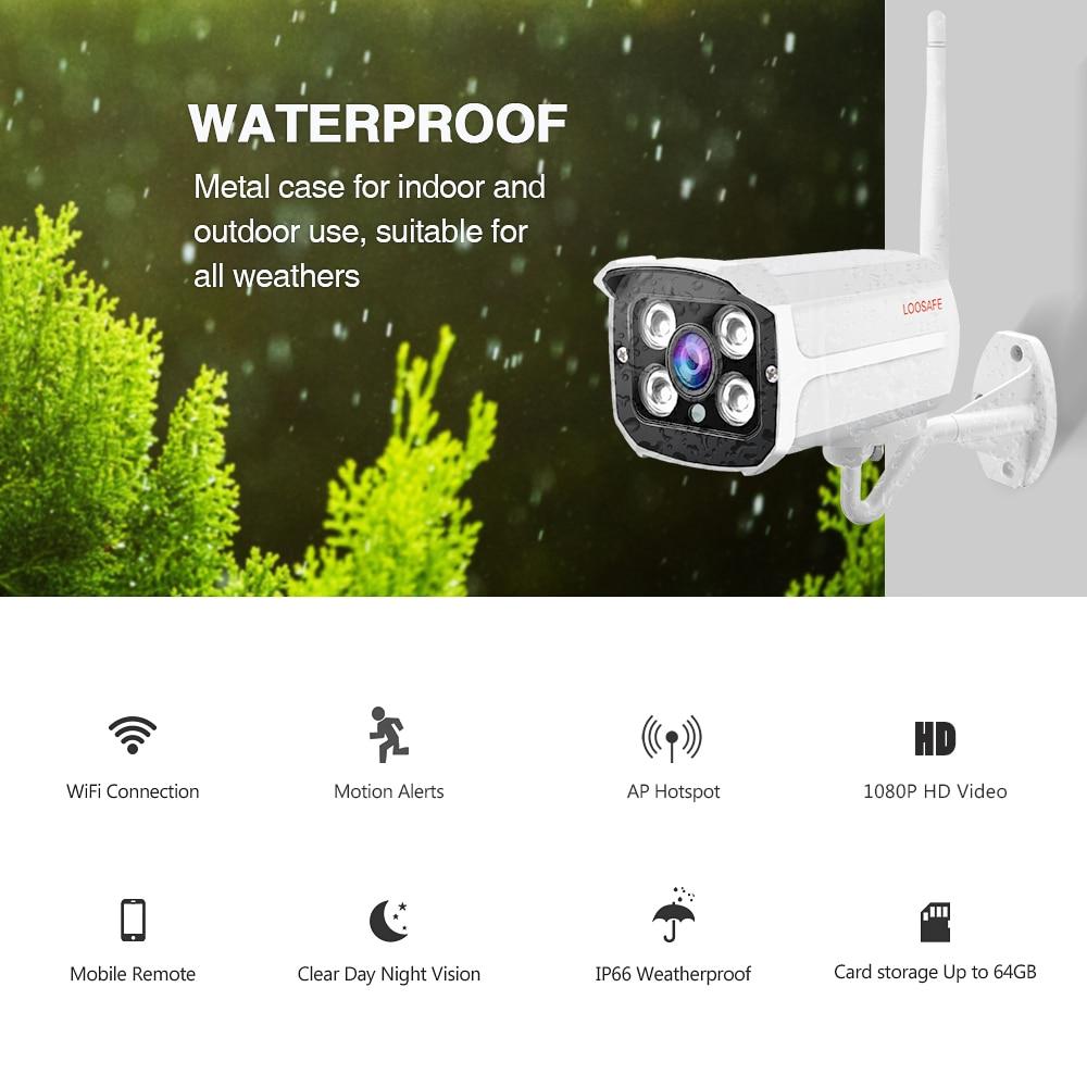 LOOSAFE 2MP IP kamera Otthoni Wifi biztonsági IP kamera Bullet - Biztonság és védelem - Fénykép 6