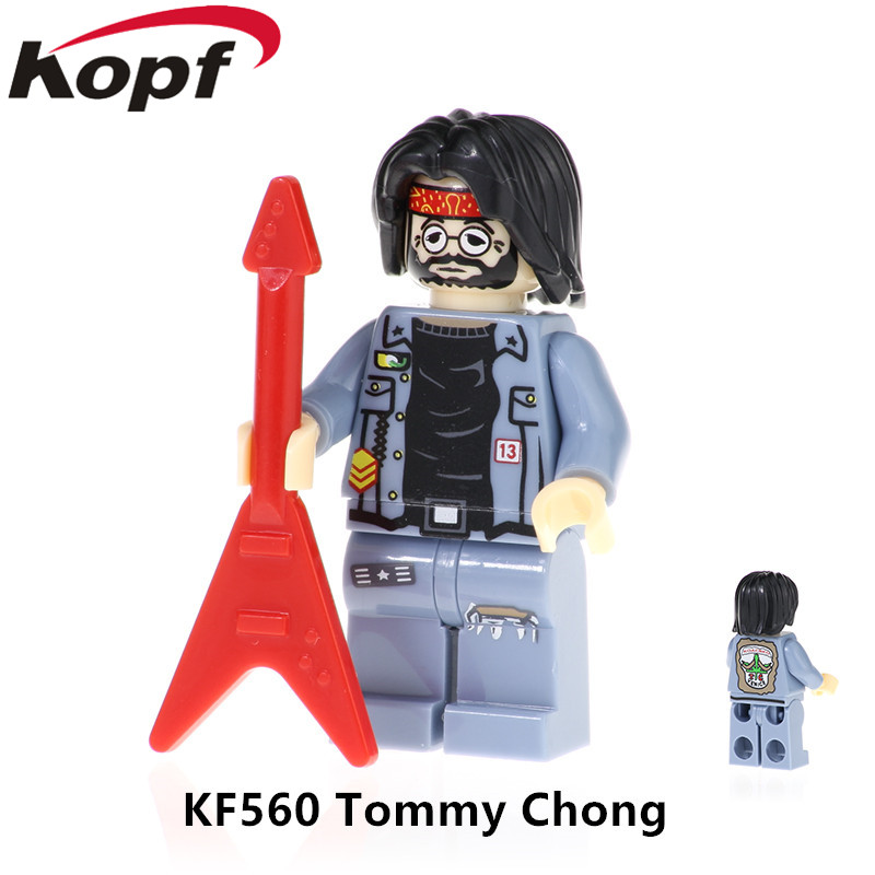 KF560 Super Heroes Figures Tommy Chong Cheech Marin Figures Building Blocks Assemble Collection Figures For Children Gift Toys(China)