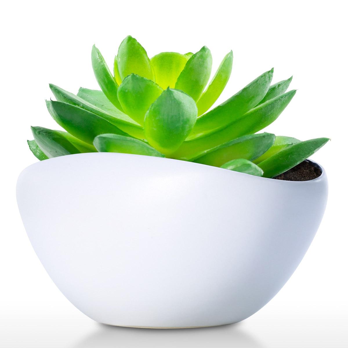 TOOARTS Ceramic Pot Modern Planter Pot Decor for Home Office Weddings Parties Tabletop Centerpiece Flower Pot
