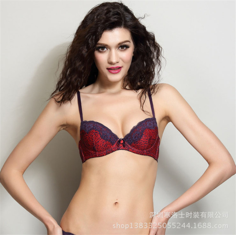 New Italy Brand Small Breast Bra Push Up National Flower -3576