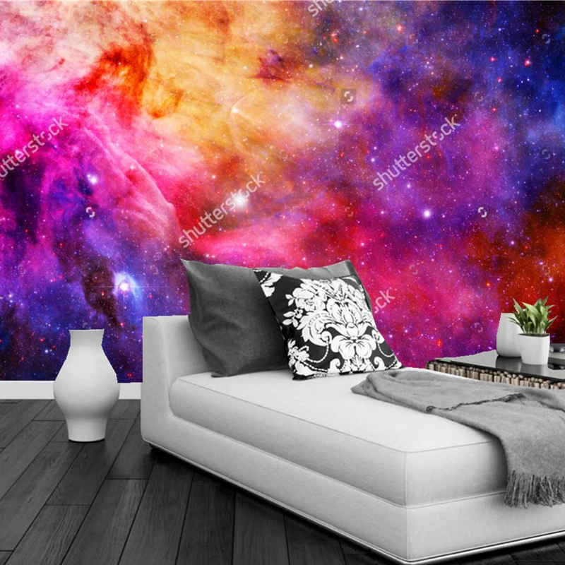 Cosmic sky wallpaper, 3D modern natural landscape mural for the living room bedroom ceiling background wall waterproof wallpaper custom 3d ceiling wallpaper beautiful sky maple murals for the living room bedroom ceiling wall waterproof wallpaper