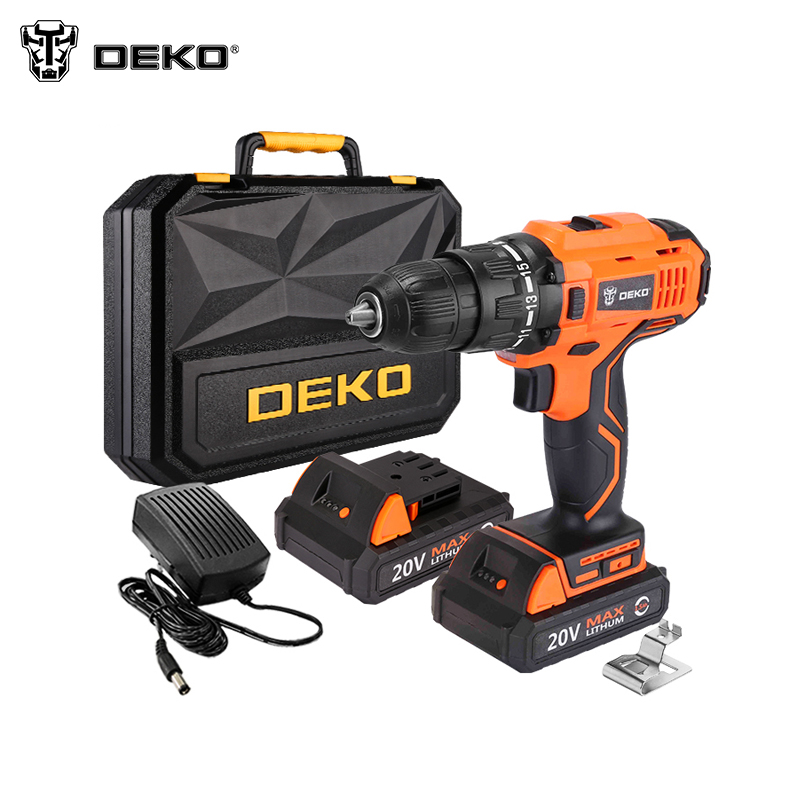 Electric Screwdriver Cordless Drill Mini Wireless Power Driver DEKO ORG20DU3-S3 Tools For Home Electric Cordless Drill woodworking hole electric drill bit 6pcs