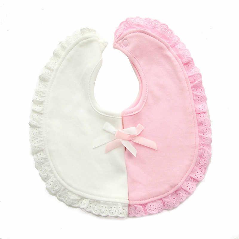 תינוק כפול-סיפון ליקוק Bowknot תינוק רוק מגבת זיעה מגבת נפרדת חמוד מטפחת ליילוד לפעוטות תינוקות