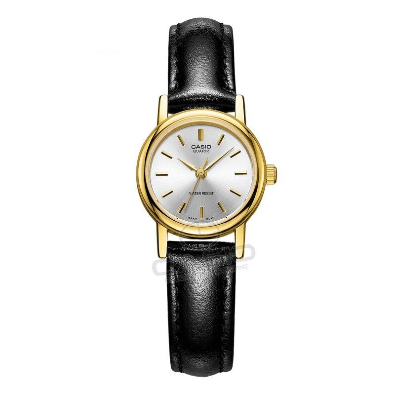 Часы CASIO 2017, Новая мода Простой LTP-1095Q классические часы Для женщин кожа кварцевые часы платье Relogio Feminino Бесплатная доставка