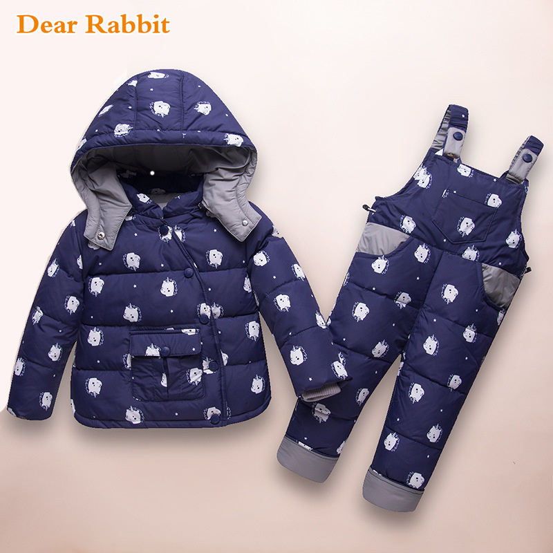 bfd17e6174d6 Aliexpress.com   Buy Children Winter Warm Jacket Baby Clothing Set ...