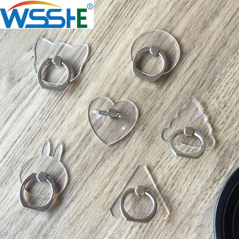 Universal Stent Handy Halter Stehen Fingerring Magnet Für niedlich Zelle Smart Telefon Transparent halter für iphone XS MAX 8
