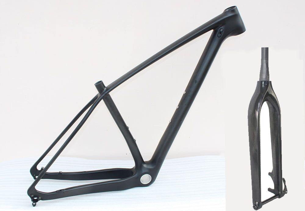 Full carbon 29er mtb frame mountain bicycle frame with fork, New full toray t800 carbon 29er, thru axle frame fork 17/18.5/20 new 27 5er 650b full carbon suspension mtb frame carbon mtb bicycle frame cheaper chinese factory frame with size 16 18 20