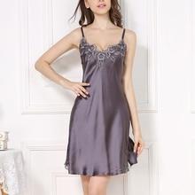 100%REAL SILK women sleep dress solid basic slip V neck FULL slips sleeveless new underwear PURPLE