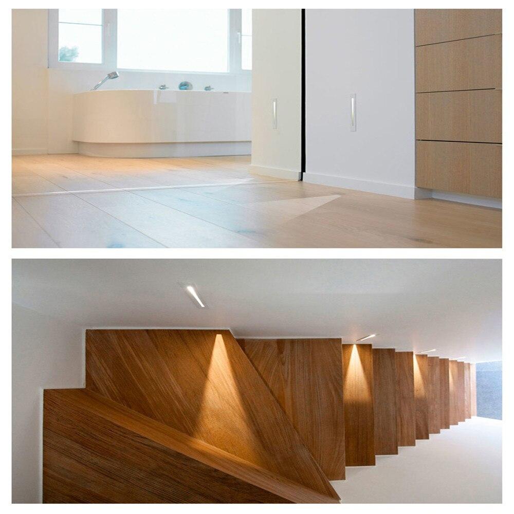 1 w led escadas lâmpada de parede
