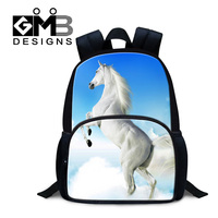 Dispalang 2017 hot sale 3D horse print backpacks for kids 12 inch primary students back pack fashion children bookbags mochilas